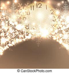 優雅である, クリスマス, 背景, ∥で∥, 雪片, そして, 場所, ∥ために∥, text.
