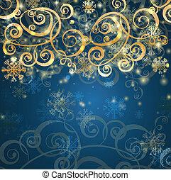 優雅である, クリスマス, 青い背景