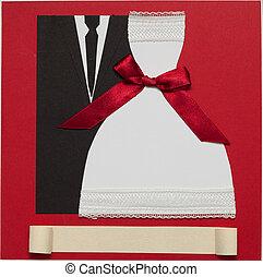 優雅である, スタイル, 結婚式, カード