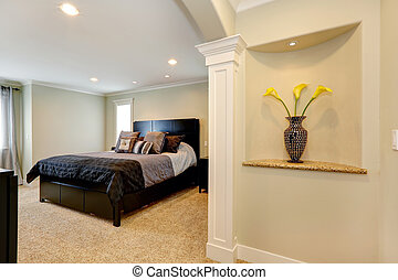優雅である, 寝室, ∥で∥, アーチ, そして, 飾られる, 適所, 中に, 壁