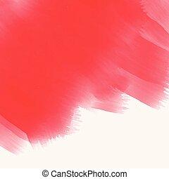優雅である, 手ざわり, 水彩画, ストローク, ブラシ, 赤