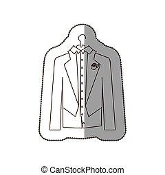 優雅である, 暗がり, アイコン, スーツ