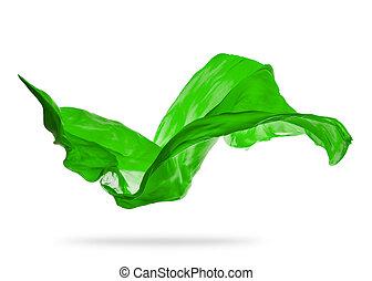 優雅である, 滑らかである, 布, 緑の背景, 白