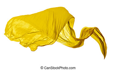 優雅である, 滑らかである, 黄色, 布, 背景, 白