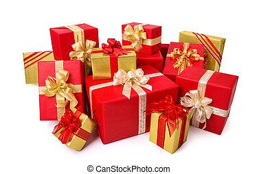 優雅である, 箱, 贈り物, 金, 赤