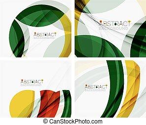 優雅である, 色, 黄色, あなたの, eco, 緑, メッセージ, abstraction.