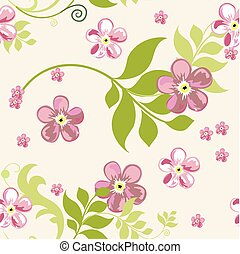 優雅である, 花, seamless, パターン, 背景, ∥ために∥, あなたの, デザイン