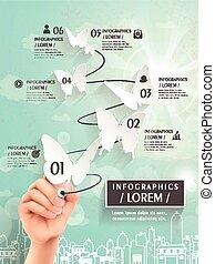 優雅である, infographic, デザイン, テンプレート