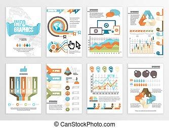 元素, 集合, infographics, 大
