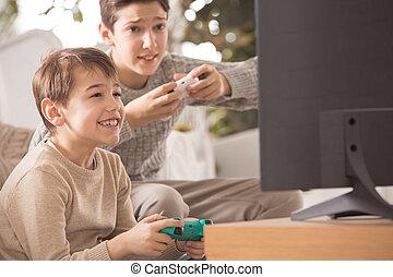 兄弟, ビデオゲーム, 遊び