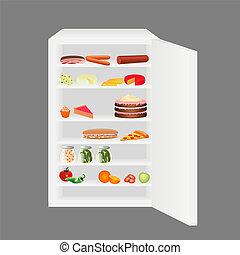 充分的冰箱