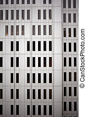 充分的框架, ......的, the, 外部, ......的, a, 公司, 建築物