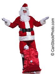 充分的身体, 圖片, ......的, 聖誕老人, 歡迎