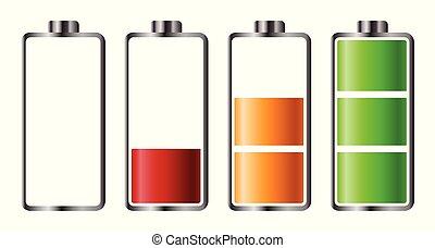 充満, 表示器, セット, レベル, 電池