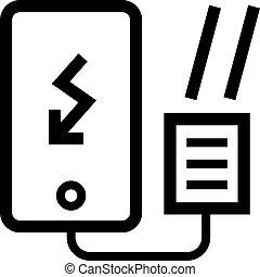 充電器, smartphone, 太陽, アイコン
