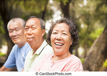 先輩, 公園, アジア人, 幸せ