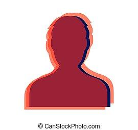 光学, デザイン, avatar, 人, アイコン
