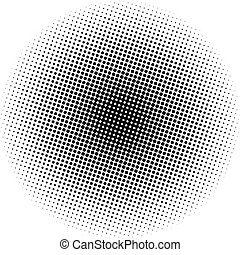 光学, 点, 放射状, 勾配