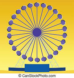光學的幻想, ferris輪子