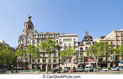 光景, の, バルセロナ, スペイン
