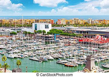 光景, の, ∥, 堤防, の, バルセロナ