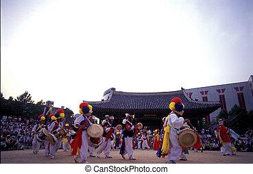 光景, の, 韓国