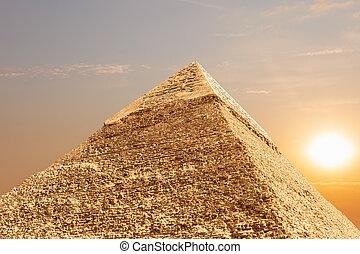 光景, ピラミッド, エジプト, khafre, ギザ, 詳しい