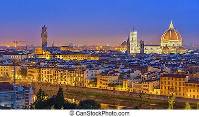 光景, フィレンツェ, 夜