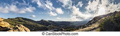 光景, フェルナンド, san, ピークに達する, カリフォルニア, 谷, 岩が多い