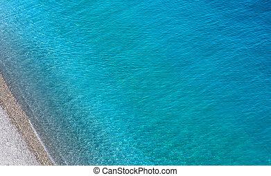 光景, 壊れる, 航空写真, 波, 海洋
