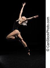 光景, 女, 側, bodysuit, ダンス
