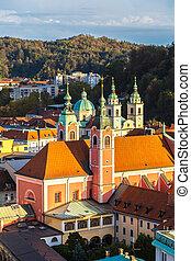 光景, 航空写真, スロベニア, ljubljana