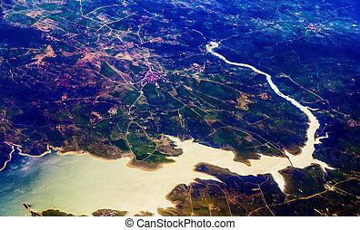 光景, 都市, 航空写真