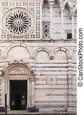 光景, carrara, アンドリュー, st. 。, tuscany:, 大聖堂, entrance., 本