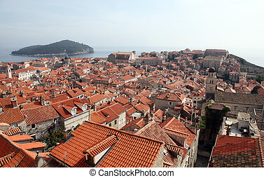 光景, dubrovnik, croatia, 都市, 古い