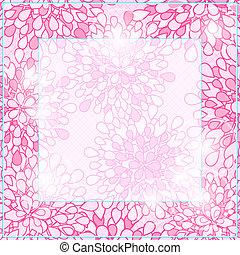 光沢がある, ピンク, 広場, 花, カード, フレーム