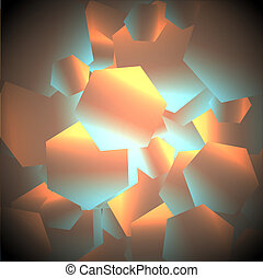 光沢がある, 六角形