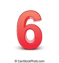 光沢がある, 数, 赤, 6