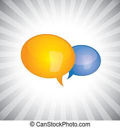 光沢がある, 概念, チャット, 表しなさい, いくつか, シンボル, 会話, 個人的, 議論, 人々, スピーチ, vector-, 泡, グロッシー, icons., 談笑する, 重要, イラスト, ∥あるいは∥, 缶, 持つこと, ミーティング