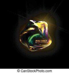 光沢がある, 虹色, object.