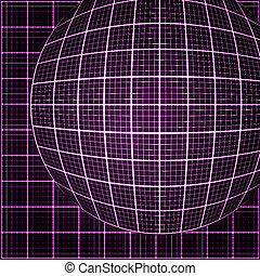 光線, ピンク, 3d, ライト, mosaic.