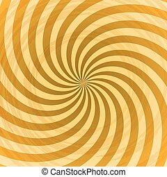光線, 抽象的, 黄色, バックグラウンド。, ベクトル, 渦巻