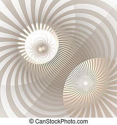 光線, 放射, 色, 活気に満ちた, 抽象的, らせん状に動きなさい, 催眠性, twisted, バックグラウンド。, vortex., 形, 太陽光線, 渦