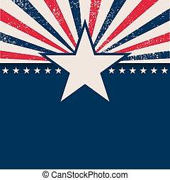 光線, 星, アメリカ, 背景