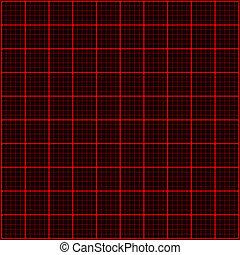 光線, 3d, 赤, mosaic.