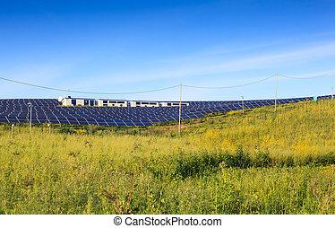 光起電, パネル, modules, 太陽
