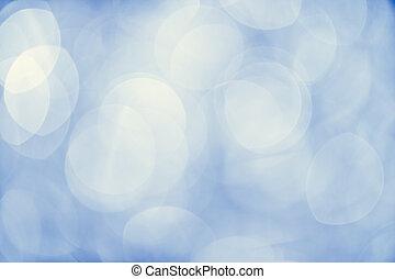 光, 上, 藍色的背景