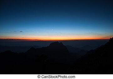光, 傍晚, 背景, 日出
