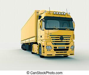 光, 卡車, 背景
