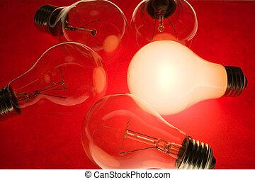 光, 明亮, 燈泡
